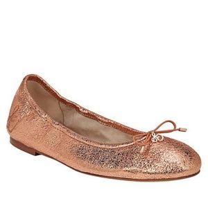 NIB Sam Edelman Metallic Leather Ballet Flat 8